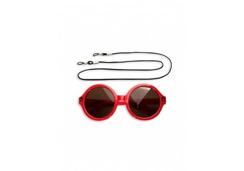 Mini Rodini Solid Round Sunglasses Red