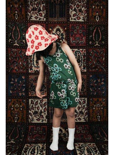 Mini Rodini Daisy Summersuit Dark Green