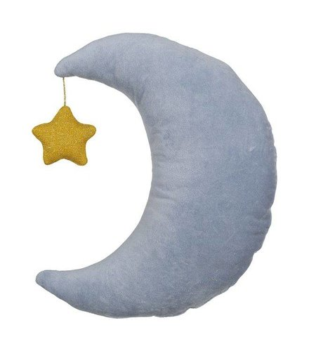 Meri Meri Velvet moon cushion