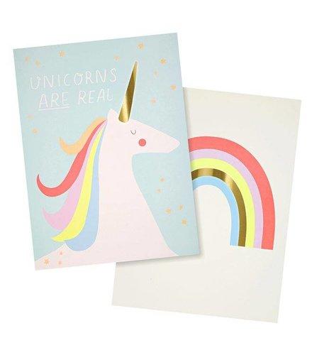 Meri Meri Rainbows & unicorns art prints