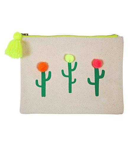 Meri Meri Pom pom cactus large canvas pouch
