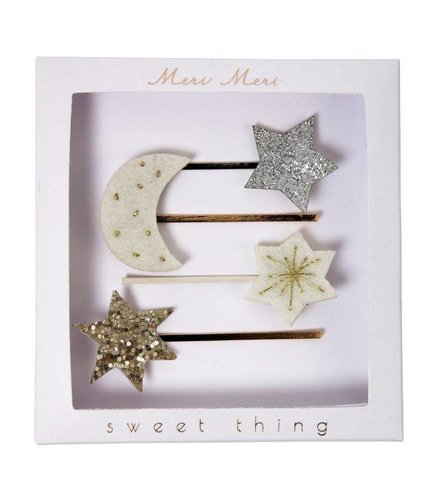 Meri Meri Moon and star hair slides