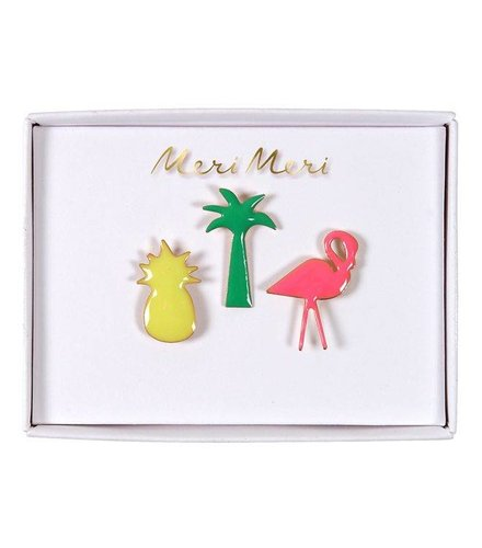 Meri Meri Tropical enamel pins