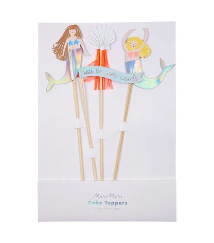 Meri Meri Let's be mermaids cake toppers