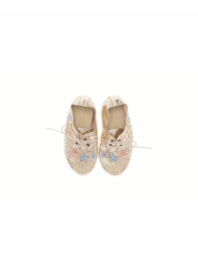 Anniel Shoes Anniel Kids Leather Golden Pastel Star shoes