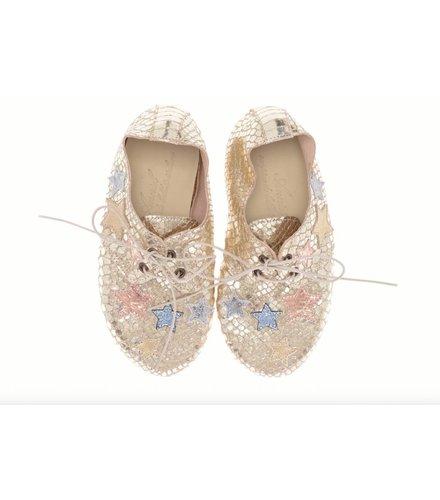 Anniel Shoes Anniel Kids Leather Golden Pastel Star shoes