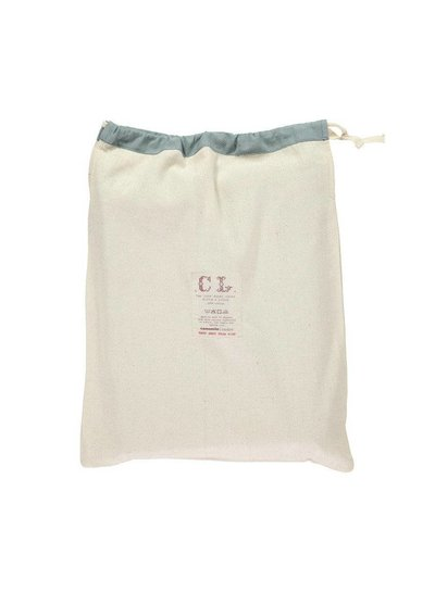 Camomile London Two Tone Duvet Cover With Hand Emb Running Stitch - Chambray/Ink