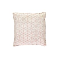 Square Check Padded Cushion - Dash Star Rose/Ivory