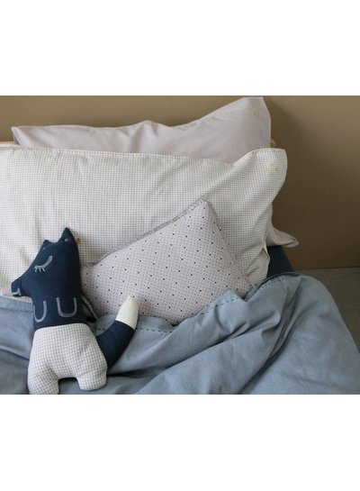 Camomile London Solid Colour Pillow Case - Soft Grey