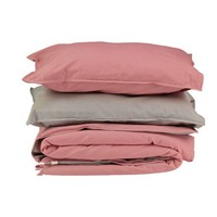 Solid Colour Pillow Case - Rose