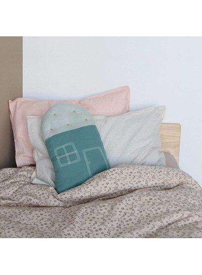 Camomile London Solid Colour Pillow Case - Peach Puff