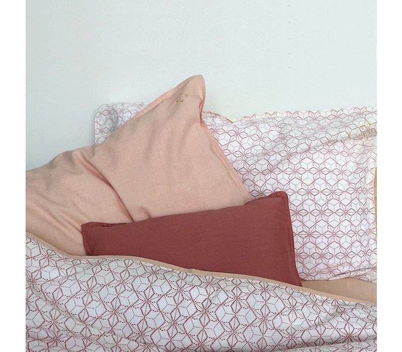 Solid Colour Pillow Case - Peach Puff