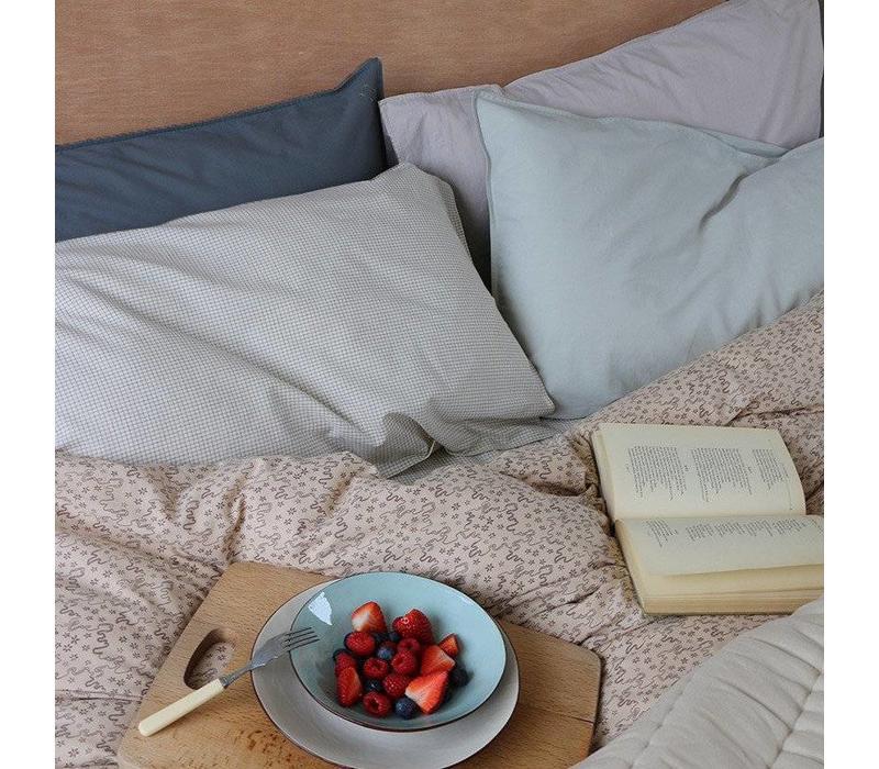 Solid Colour Pillow Case - Ink