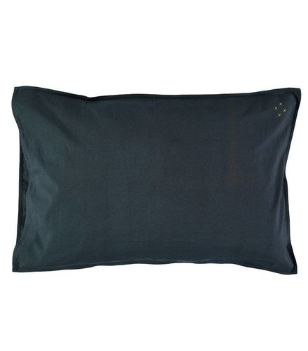 Camomile London Solid Colour Pillow Case - Ink