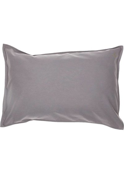 Camomile London Solid Colour Pillow Case - Grey