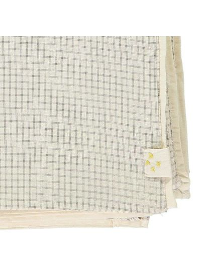 Camomile London Sleeping Bag - Small Double Check Ivory/Grey With Parchment Back