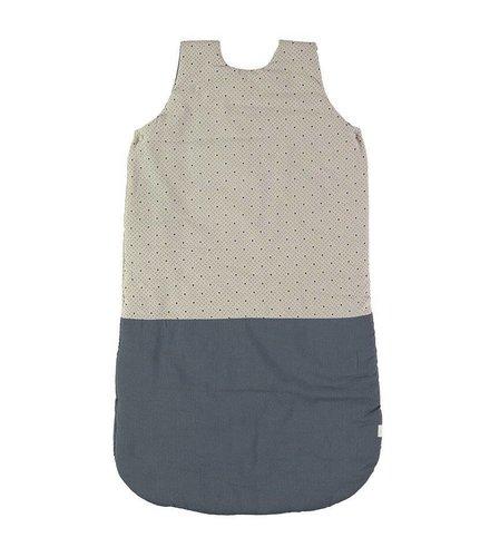 Camomile London Sleeping Bag - Keiko Soft Grey/French Blue