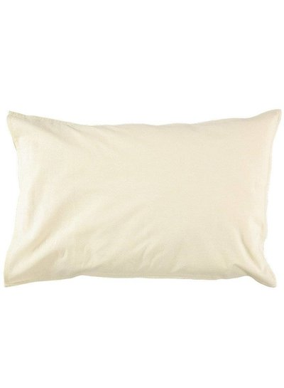 Camomile London Pillow Case - Small Double Check Ivory/Grey