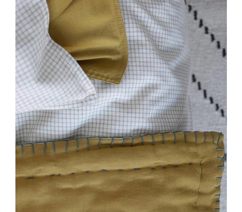 Kussensloop - Small Double Check Ivory/Grey