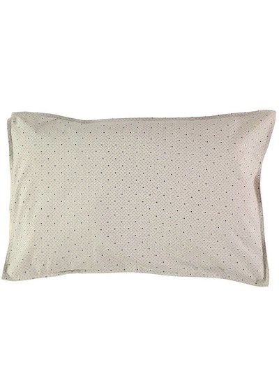 Camomile London Pillow Case - Keiko Soft Grey/French Blue