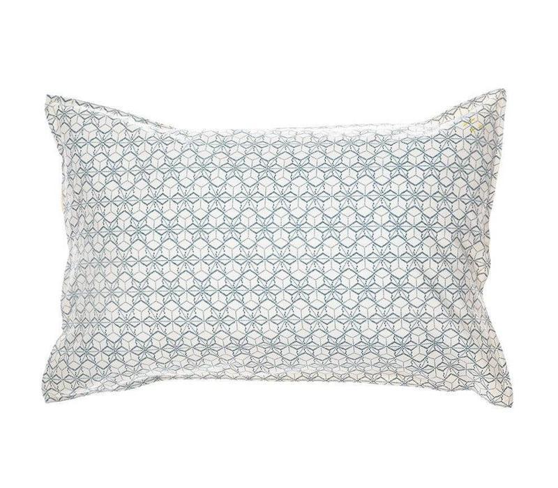 Pillow Case - Dash Star Indigo/Ivory