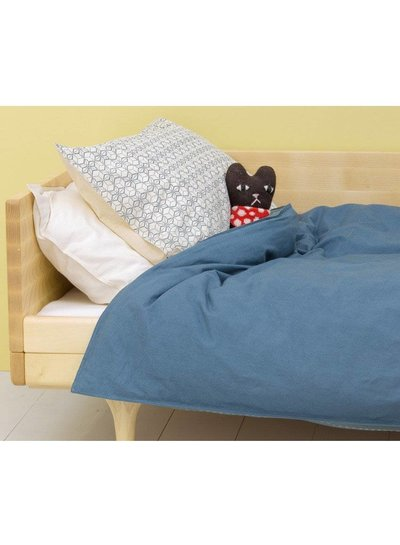 Camomile London Pillow Case - Dash Star Indigo/Ivory