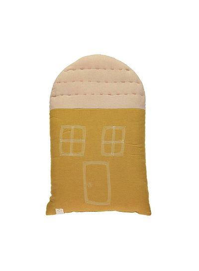 Camomile London Midi House Cushion In Bag - Golden/Pink