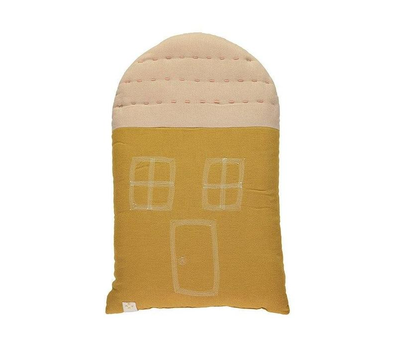 Midi House Cushion In Bag - Golden/Pink