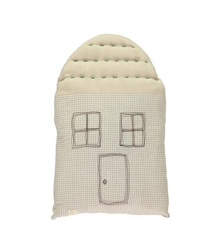 Camomile London Midi House Cushion In Bag - Check/Stone