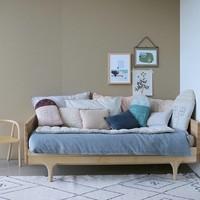 Midi House Cushion In Bag - Check/Stone