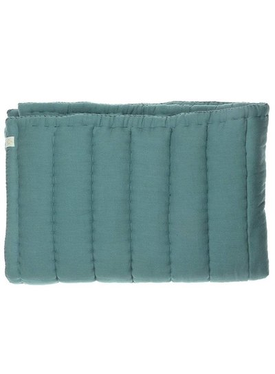 Camomile London Hand Quilted Blanket - Embroidery Teal Teal