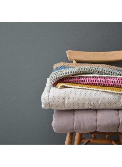 Camomile London Hand Crochet Blanket/Throw - 100% Wool Twisted Yarn Multi