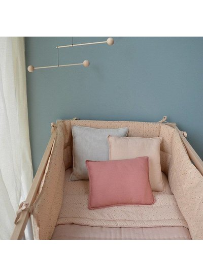 Camomile London Fitted Sheets - Keiko Peach Puff/Rose