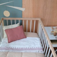 Fitted Sheets - Keiko Peach Puff/Rose