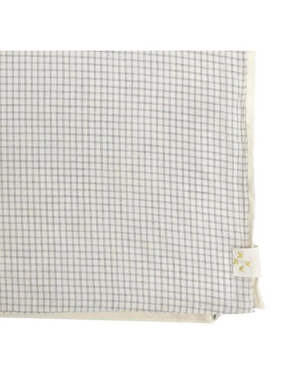 Camomile London Duvet Cover - Small Double Check Ivory/Grey
