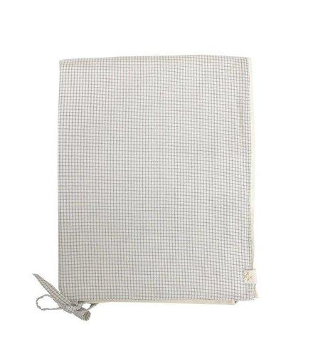 Camomile London Dekbedovertrek - Small Double Check Ivory/Grey