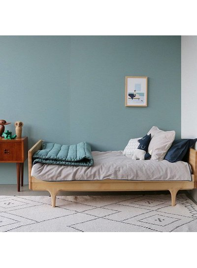 Camomile London Duvet Cover - Keiko Soft Grey/French Blue