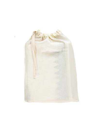 Camomile London Zig Zag Hand Embroidered Top Sheets -Mall Cot - Cot Bed And Single Bed In A Bag - Embroidery Golden Ivory