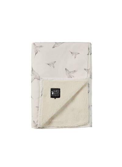 Mies & Co Baby soft teddy blanket little dreams offwhite