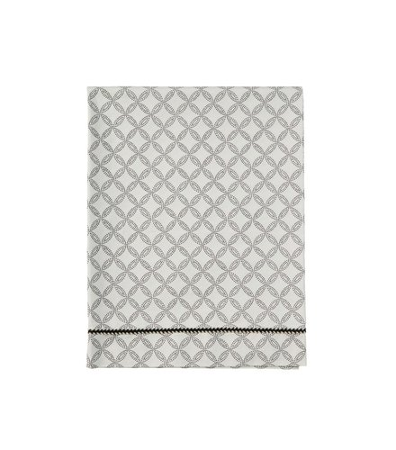 Mies & Co Toddler bed sheet geo circles offwhite