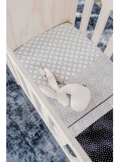 Mies & Co Toddler bed sheet cozy dots offwhite