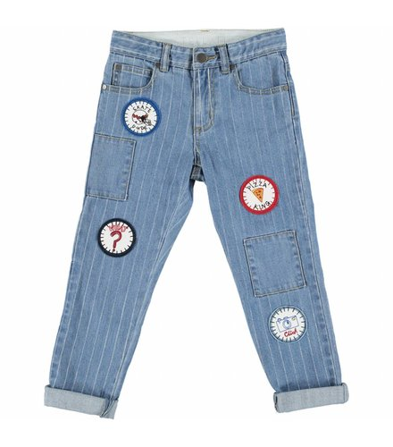 Stella McCartney Kids Lohan Trousers Denim W/Stripes