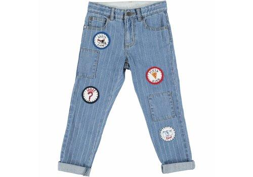 Stella McCartney Kids Lohan Trousers Denim W/Stripes