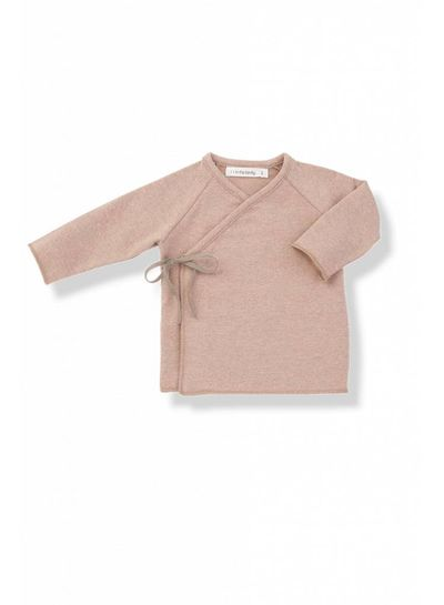 1 + More in the Family Myla-Eur Newborn Shirt Rose