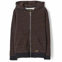 New dexter heather rust - boy knitted zipped hoody
