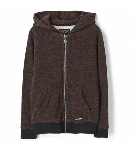 Finger in the nose New dexter heather rust - boy knitted zipped hoody