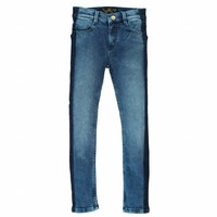 Tama blue denim smocking-girl woven skinny fit jeans