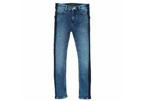 Finger in the nose Tama blue denim smocking-girl woven skinny fit jeans