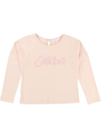 Chloé T-Shirt long sleeves, pink