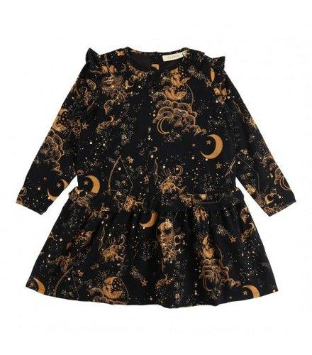 Soft Gallery Anemone Dress Jet Black, AOP Starrynight